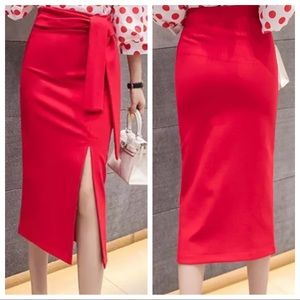 Dresses & Skirts - Bodycon pencil skirt with side tie
